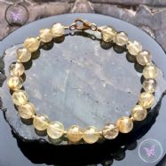 Golden Rutilated Quartz Gold Bracelet